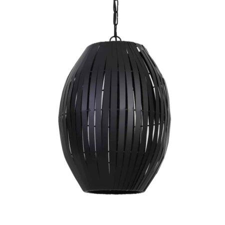 Pendelleuchte KYOMI matt schwarz, extravagante moderne Leuchte von Light & Living