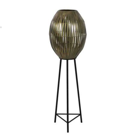 Stehlampe KYOMI antik Bronze, extravagante Leuchte von Light & Living