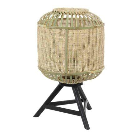 Tischlampe ALIFIA Bambus, Besondere Lampe als Dreifuss aus Bambus von Light & Living