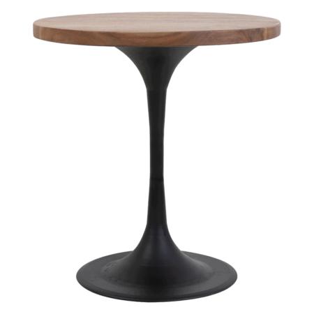 Beistelltisch BIBOCA, Akazien Holz braun-schwarz - Ø50x55 cm