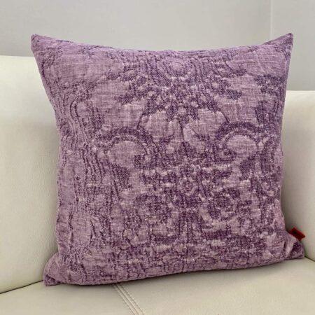 Carma Kissen ROMA flieder, traumhaft schönes Dekokissen für Couch und Sessel aus Leinen