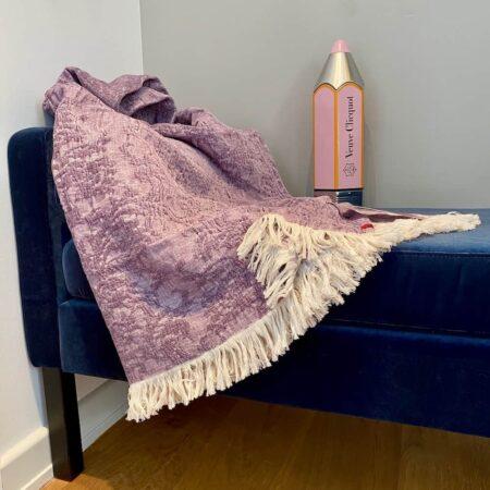 Plaid ROMA Flieder, Decke von der Marke CARMA aus der Kollektion Roma