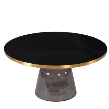 Couchtisch L'atelier schwarz/gold,Wohnzimmertisch komplett aus Sicherheitsglas von Van Roon Living - Luxus Interior