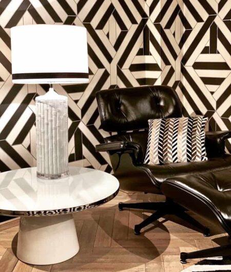 Couchtisch L'atelier weiss/silber, Wohnzimmertisch komplett aus Sicherheitsglas von Van Roon Living - Luxus Interior