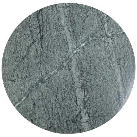 Couchtisch MARTY, Marmor Tischplatte in Grün mit Tischgestell aus Metall in antik Bronze