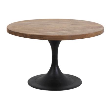 Couchtisch BIBOCA, Akazien Holz braun-schwarz - Ø60x40 cm