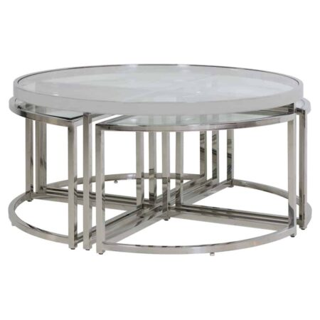 Couchtisch Set NORLINA, exklusives Tisch-Set bestehend aus 5 Tischen