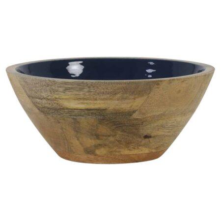 Dekoschale RANCO blau, Schale aus Holz in blau Ø19x7 cm von Light & Living