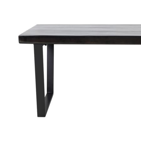 Esstisch MAYEN, luxuriöser Esszimmertisch in glänzen schwarz aus Holz und Metall von Light & Living - Loft-Charakter