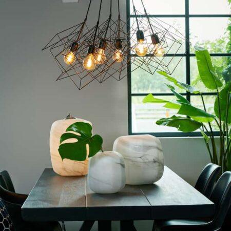 Esszimmer, Esstisch MUDEN aus Mango Holz in matt schwarz