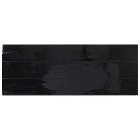 Esstisch MAYEN, luxuriöser Esszimmertisch in glänzend schwarz aus Holz und Metall von Light & Living - Loft-Charakter