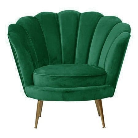 Loungesessel LOTUS grün, gemütlicher Sessel aus Samt von Van Roon Living