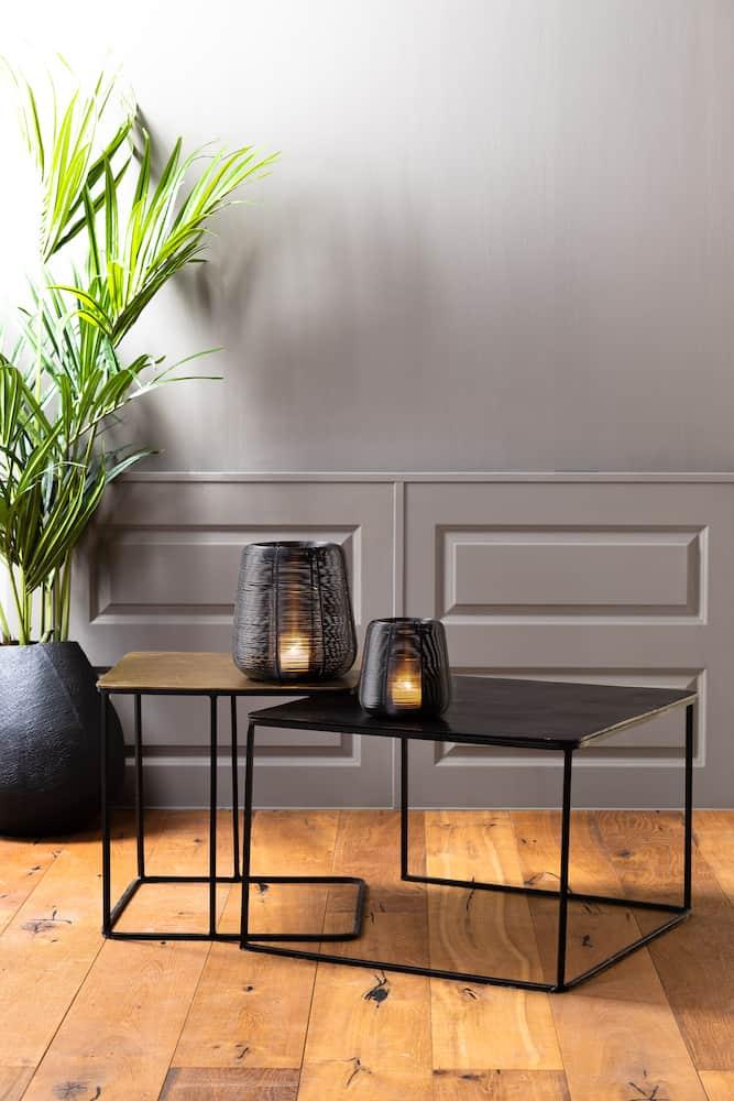 Möbel und Dekoration, Beistelltisch Set und Windlichter von Light & Living