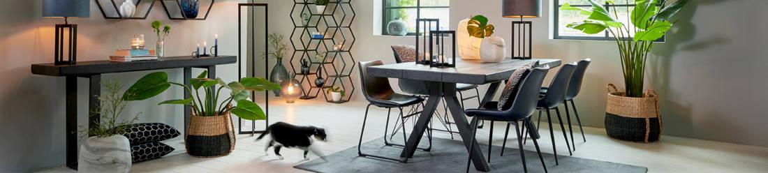 Möbel Light & Living, Esszimmer Tische und Dekoration