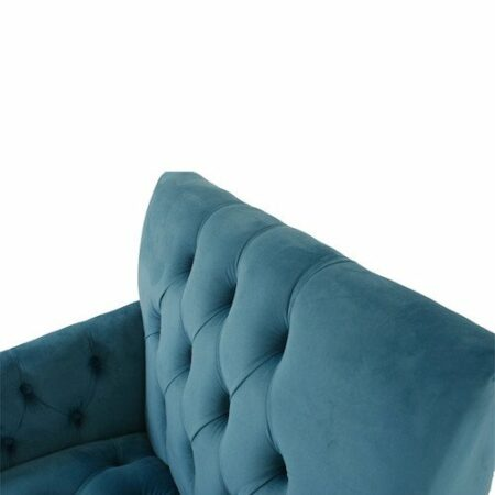 Samt Loungesessel AVALON, blauer Samt-Sessel von Van Roon Living