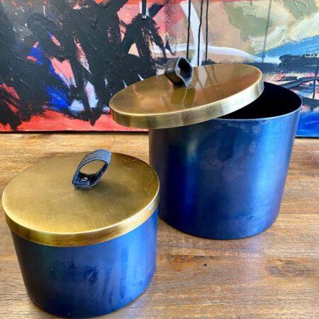 Deko-Box ALEGRANZO - runde Dose aus Metall von Light & Living
