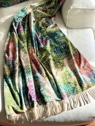 HAPPY Plaid fresco color, Luxus Decke von Carma aus Samt, Futter aus Wolle & Cashmere