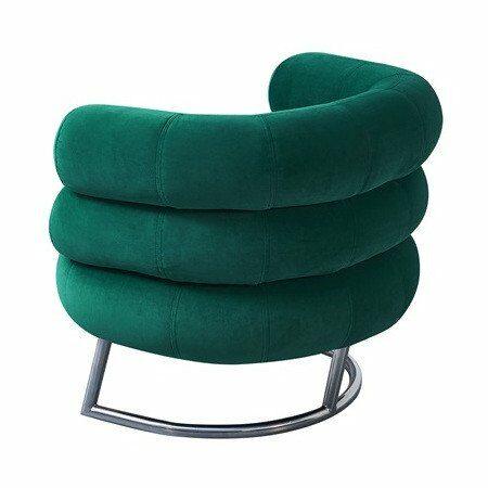 Cocktailsessel OSWALD Samt grün, edler runder Sessel aus Samt von Van Roon Living