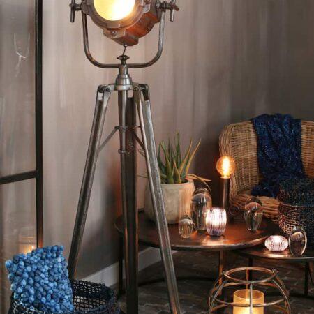 Stehleuchte BUCHANON , Dreifuss Stehlampe im Loft-Design von Light & Living