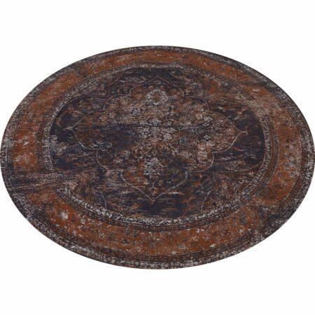 Teppich BALAD rund, im used Perser-Look - Ø180 cm - Braun-Töne von Light & Living