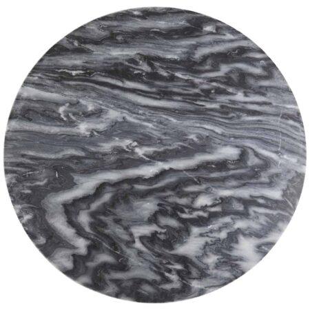Couchtisch MARTY Tischplatte, Marmor Tischplatte in Grau mit Tischgestell aus Metall in antik Bronze