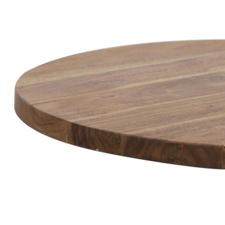 Tisch BIBOCA, Akazien Holz braun-schwarz - Ø50x55 cm