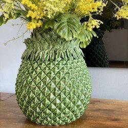 Vase PINE - luxuriöse Vase in Form einer Ananas - von Van Roon Living