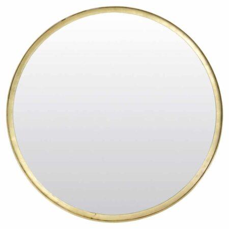 Runder Wandspiegel BITA, Spiegel in alt bronze Ø50x4 cm