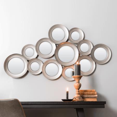 Wandspiegel ISPILU antik Zinn, Spiegel als Wanddeko von Light & Living