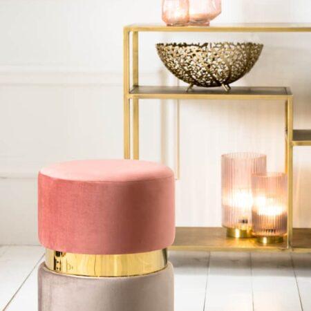Wohnaccessoires in rosa und gold, Dekoration von Light & Living