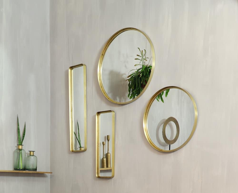 Wandspiegel alt Bronze, Rechteckige und Runde Spiegel von Light & Living