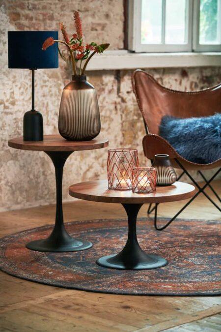 Wohnzimmer Möbel, Beistelltische aus Akazien Holz von Light & Living