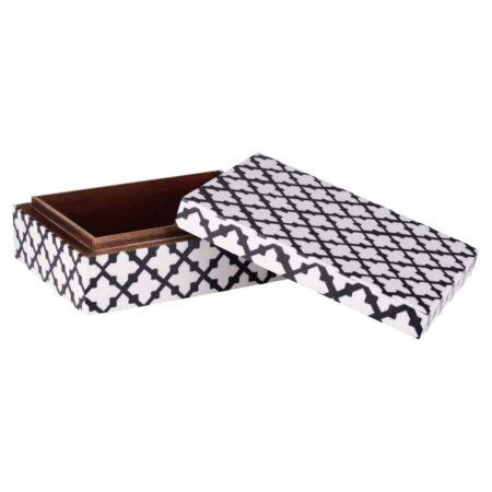 2er Dekorative Box CANVAS von GIFTCOMPANY in weiß und schwarz