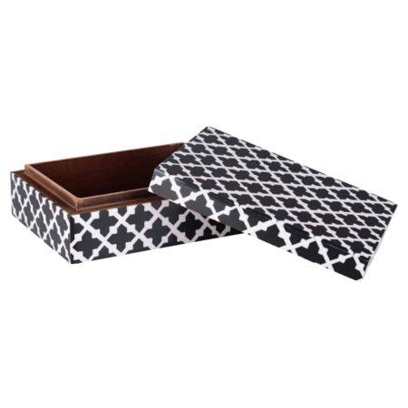 Deko Box CANVAS -2er-Set Holzboxen von GiftCompany