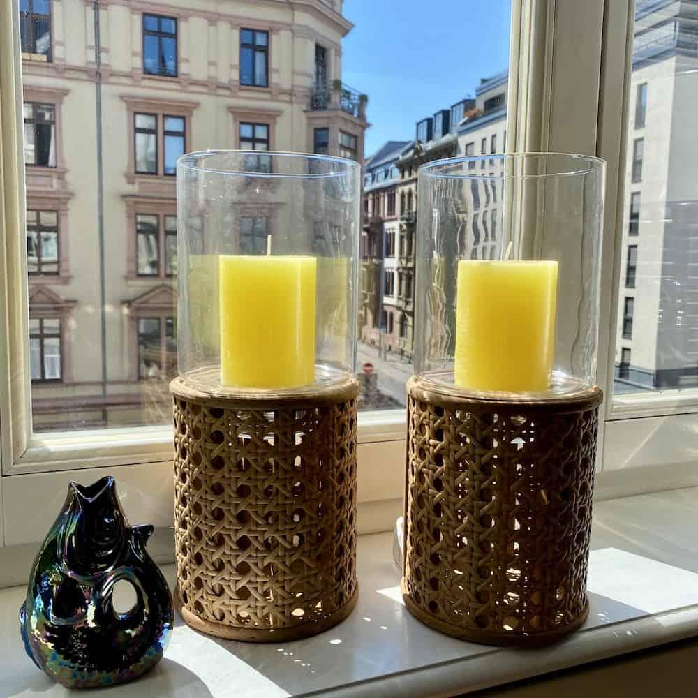 Dekoration, Windlicht BOATHOUSE, Rattan/Glas Windlicht von GIFTCOMPANY