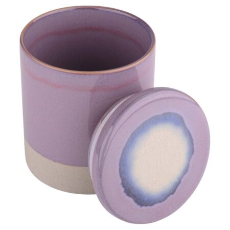 GiftCompany Keramikdose DEAUVILLE lila, praktisch zur Aufbewahrung vielerlei Krimskrams und als Vorratsdose.