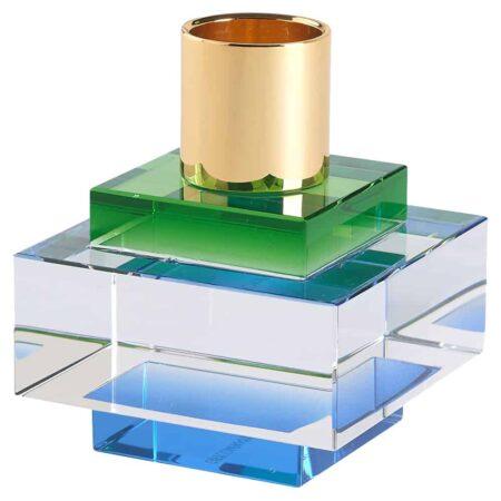 Kerzenhalter DIOPTICS von GIFTCOMPANY in grün o6x7cm