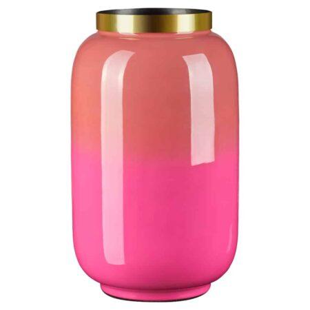 Eisen Vase SAIGON von GIFTCOMPANY in magenta/koralle o14x20cm