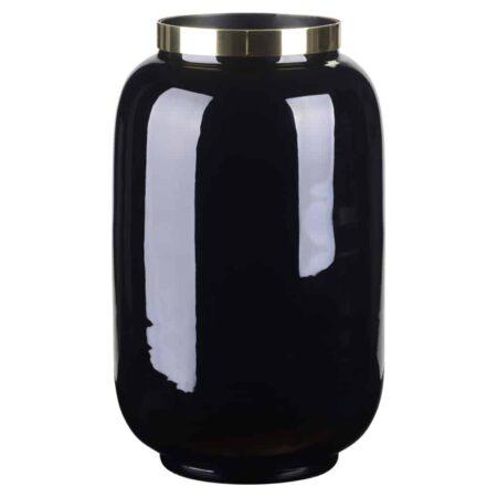 Eisen Vase SAIGON von GIFTCOMPANY in schwarz/gold o14x20cm