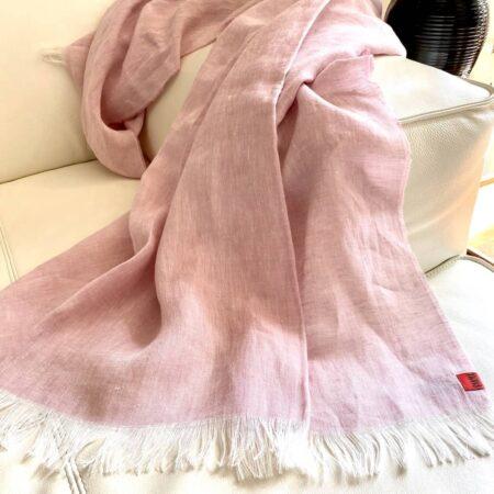 Plaid LINO rosé - Decke aus 100% Leinen von CARMA