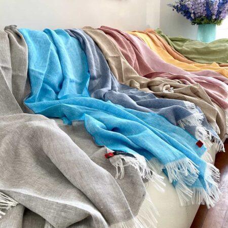 Plaid-Kollektion LINO - CARMA Decken aus 100% Leinen
