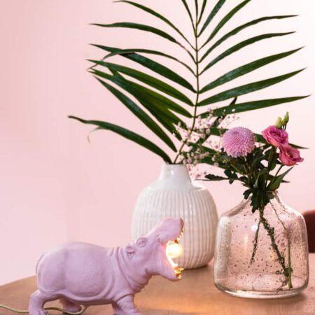 Tischlampe HIPPO rosa, Beleuchtung und Dekoration von Light & Living