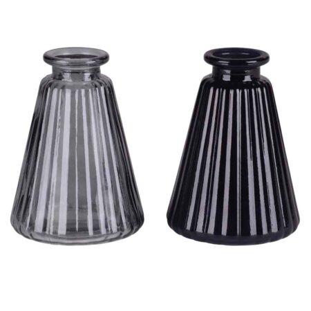 Minivase JACQUARD schwarz, grau