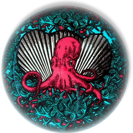 Briefbeschwerer NAUGHTY POULP Oktopus-Motiv