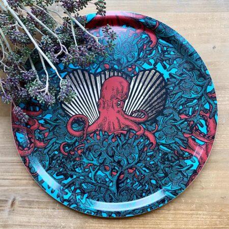 Tablett Oktopus - skuriles Tier-Motiv von Gangzai