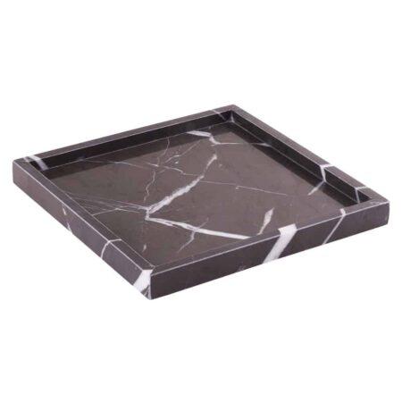 Marmortablett STONE quadratisch grau