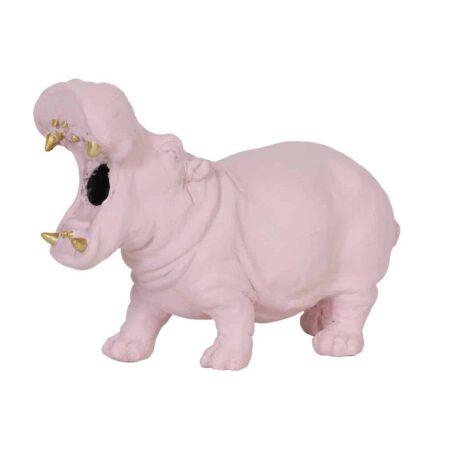 Tischlampe HIPPO rosa, tierische Leuchte als Nilpferd