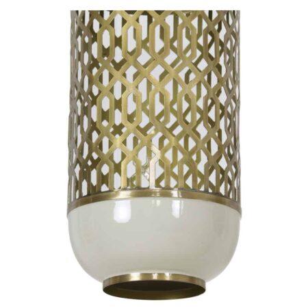 Hängelampe ROHAT von Light & Living weiss, goldenes Muster