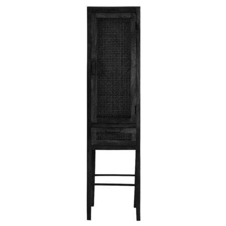 Schrank NIPAS von Light & Living schwarzes Holz, dunkles Geflecht