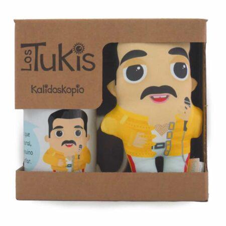 TAZA & TUKI Geschenkset Freddie Mercury im illustrierten Design